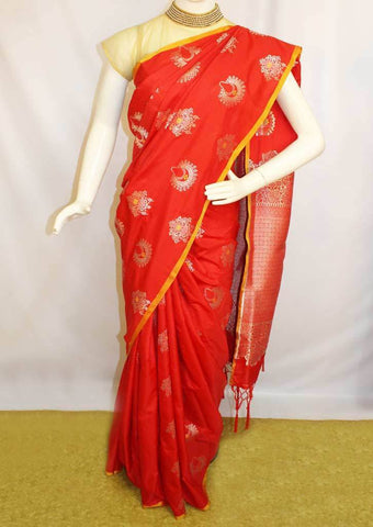 Red Fancy Saree-FM112910 ARRS Silks