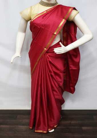 Red Mysore Silk Saree - GD28866 ARRS Silks
