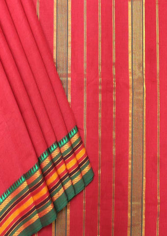 Red Pure Cotton 9.5 yards Saree - FP54205 ARRS Silks