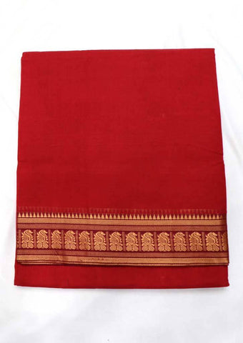 Red Pure Cotton 9.5 yards Saree - FT13321 ARRS Silks