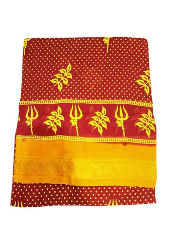 Red Pure Cotton Saree - 002 ARRS Silks