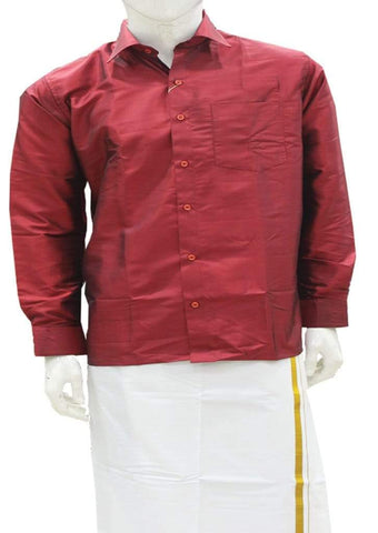 Red Pure Silk Shirt ARRS Silks Salem