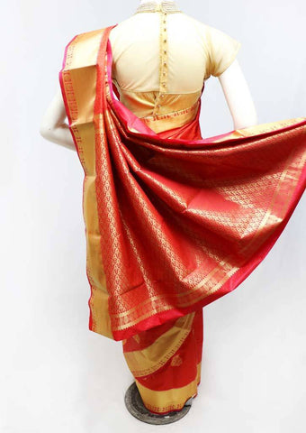 Red Semi Silk Saree- FS43692 ARRS Silks