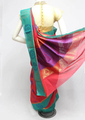 Red Silk Cotton Saree - FR123258 ARRS Silks