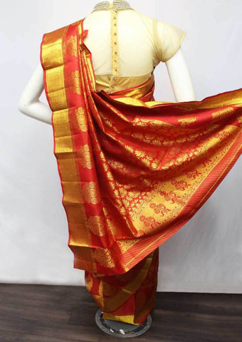 Red  Wedding Silk Saree - 9KA112 ARRS Silks