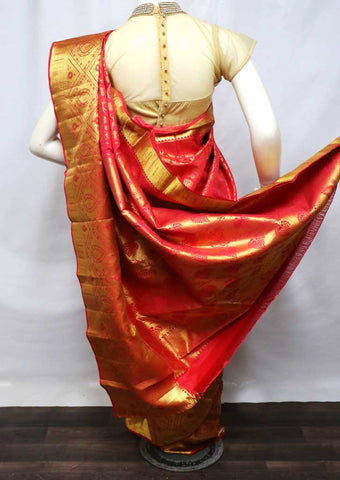 Red Wedding Silk Saree - FU71566 ARRS Silks
