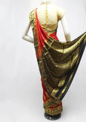 Red with Black Chiffon Saree-FR96167 ARRS Silks