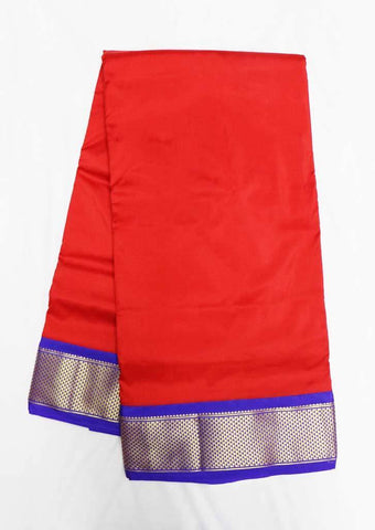 Red with Blue Color 9.5 Yards Silk Saree - FT55882 ARRS Silks