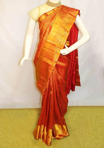 Red with Golden Wedding Silk Saree -FF13912 ARRS Silks