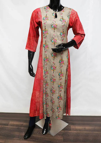 Red with Gray Color Kurti - FQ125049 ARRS Silks