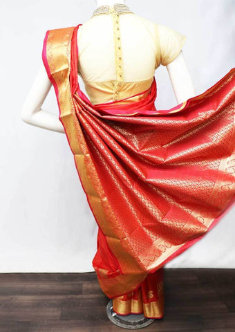 Red with Pink  Semi Silk Saree - FT5092 ARRS Silks