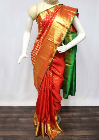 Red with Pink Wedding Silk Saree - FQ102788 ARRS Silks