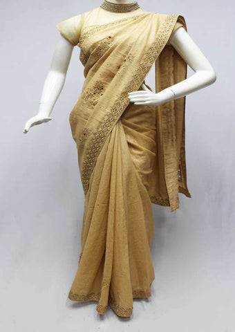 Sandal Color Designer Saree-FR15167 ARRS Silks