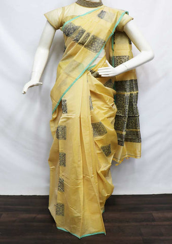 Sandal Color Silk Cotton Saree - FU49177 ARRS Silks