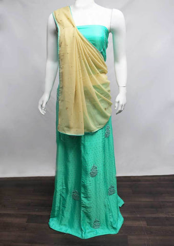 Sandal with Aqua green Lehenga - FE21554 ARRS Silks
