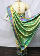 Sandal with Green Kanchipuram Silk Saree -FU1490 ARRS Silks