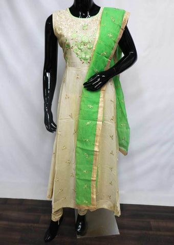 Sandal with Green Readymade Salwar-FU47099 ARRS Silks