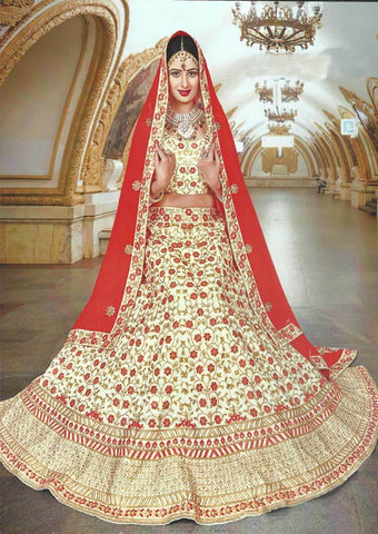 Sandal With Red  Lehenga - FG141 ARRS Silks