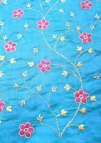 Sky Blue Blouse Fabric FR60328 ARRS Silks