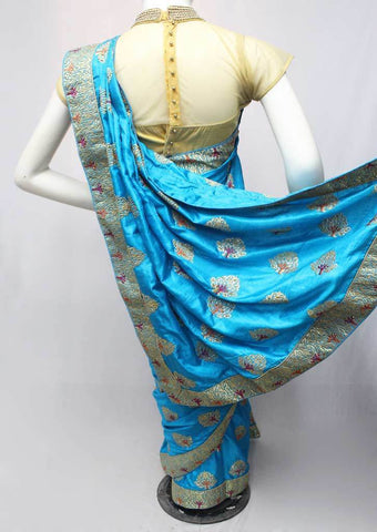 Sky Blue Color Fancy Saree-FN7088 ARRS Silks
