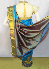 Sky Blue Kanchipuram Silk Saree-FI16692 ARRS Silks