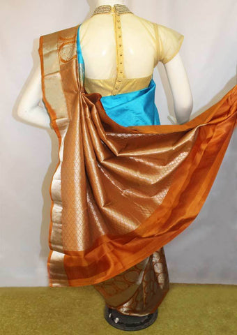 Sky Blue Kanchipuram Silk Saree-FM83182 ARRS Silks