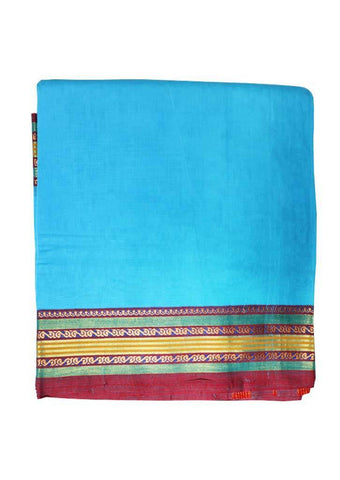 Sky Blue Pure Cotton 9.5 yards Saree ARRS Silks
