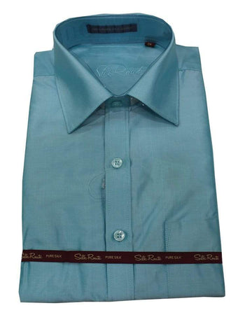 Sky Blue Pure Silk Shirt ARRS Silks