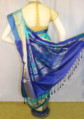 Sky Blue Soft Silk Saree -FL84096 ARRS Silks