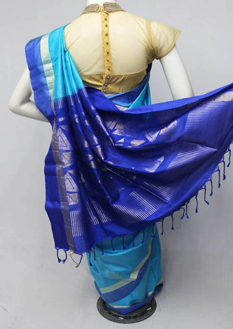 Sky Blue Soft Silk Saree -FL84124 ARRS Silks