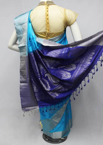 Sky Blue Soft Silk Saree -FQ39022 ARRS Silks