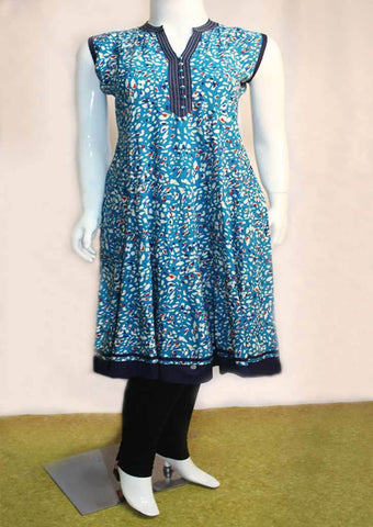 Sky Blue With Black Kurti - FL55939 ARRS Silks