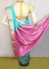 Sky Blue with Light Violet Soft Silk Saree -FL87075 ARRS Silks