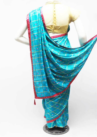 Sky blue with Pink Color Synthetic Saree-FR95508 ARRS Silks