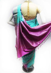 Sky Blue with Pink Soft Silk Saree - FL87075 ARRS Silks