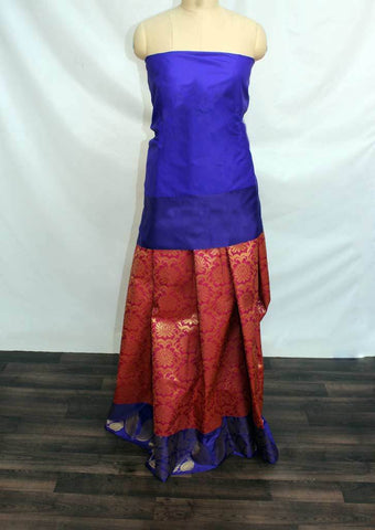 Vadamalli with Dark Blue Coloured Pattu Pavadai Material - FP4359 (Size:  13Yrs to 18Yrs) ARRS Silks