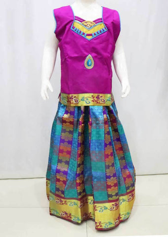 Vadamalli with Multi color Pattu Pavadai - FR21693 (Size : 10 Years ) ARRS Silks