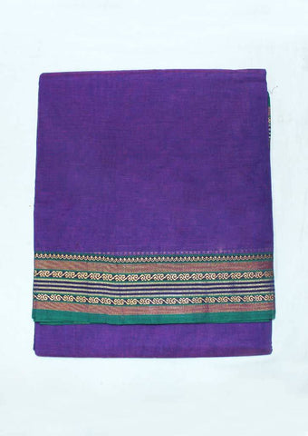Violet Pure Cotton 9.5 yards Saree - FP54198 ARRS Silks