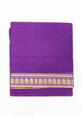 Violet Pure Cotton 9.5 yards Saree - FT13325 ARRS Silks