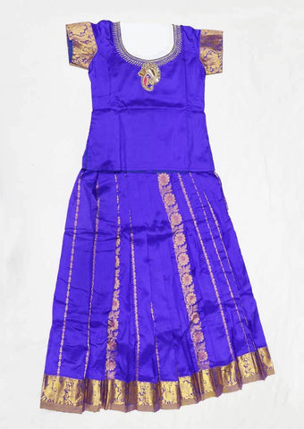 Violet Pure silk Stitched pattu pavadai - FU696 ( Age-4 years) ARRS Silks