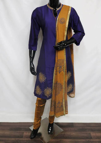 Violet Straight Cut  Readymade Salwar-FP35245 ARRS Silks