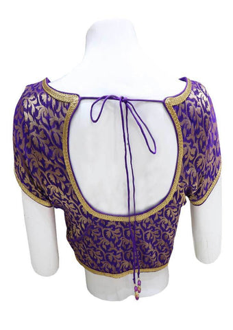Violet with Golden  Readymade Blouse-FR82030 ARRS Silks