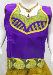 Violet with Green Pattu Pavadai - FI9381  (Size : 11 Years ) ARRS Silks