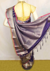 Violet with Pink Fancy Saree-FM112896 ARRS Silks