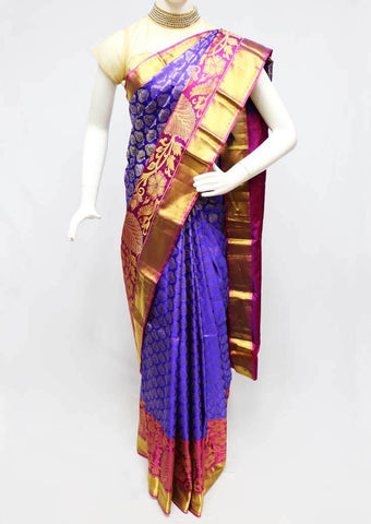 Violet with Pink  Kanchipuram Silk Saree -FR81188 ARRS Silks