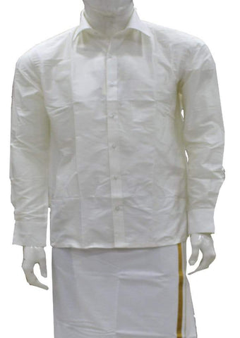 White Pure Silk Shirt ARRS Silks