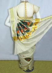 White with Golden Pure Cotton Saree - FP10034 ARRS Silks