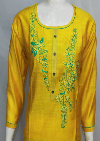 Yellow Color Cotton Kurti - FQ33984 ARRS Silks