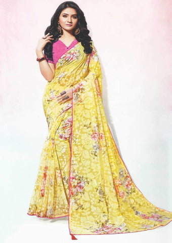 Yellow Color Fancy Saree-FS17783 ARRS Silks