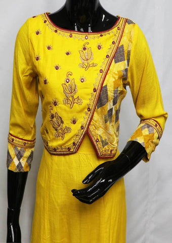 Yellow Color Kurti - FR94579 ARRS Silks